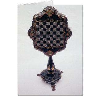 Tabla de juegos c 1850-60 felicitacion
