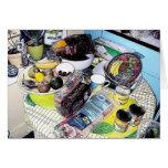 Tabla de la cocina del patsy - tarjeta de letra