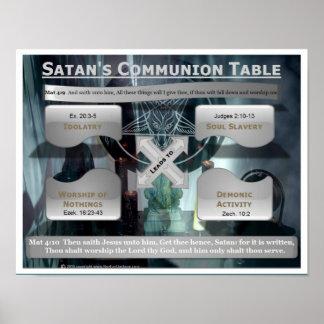 Tabla de la comunión de Satan Póster