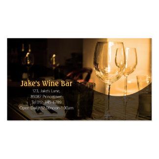Tabla de la copa de vino de la tarjeta de visita