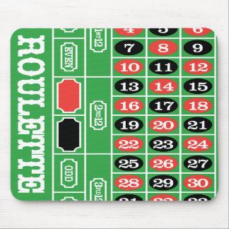 Tabla de la ruleta - juego del casino a ganar alfombrillas de ratones