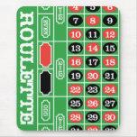 Tabla de la ruleta - juego del casino a ganar tapete de ratón