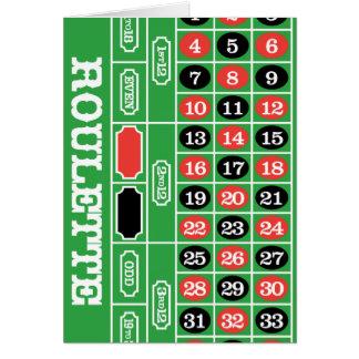 Tabla de la ruleta - juego del casino a ganar tarjeta pequeña