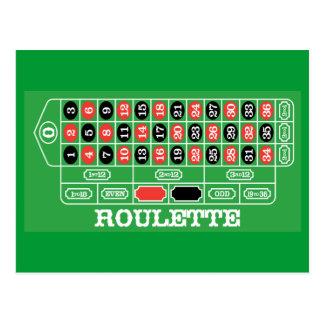 Tabla de la ruleta - juego del casino a ganar tarjetas postales