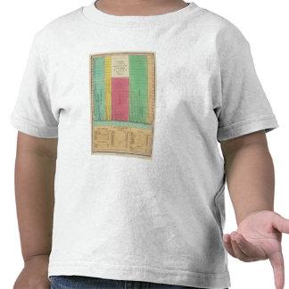 Tabla de las longitudes comparativas camisetas