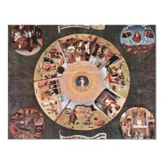 Tabla de los pecados mortales., por Hieronymus Invitación