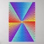 Tabla de multiplicación espiral - hexágono impresiones
