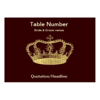 Tabla de oro Placecard de la recepción de la coron Plantilla De Tarjeta De Visita