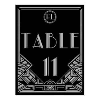 Tabla de plata negra número 11 del estilo de postal