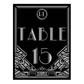 Tabla de plata negra número 15 del estilo de postales