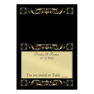 Tabla de plegamiento negra de Emperior Placecard Tarjetas De Visita Grandes