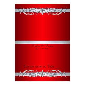 Tabla de plegamiento roja de la grande duquesa tarjetas de visita grandes