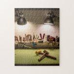 tabla de trabajo de un leatherworker puzzles con fotos