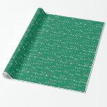 TABLA DEL 9 - 9 TIMES TABLE - GREEN - VERDE PAPEL DE REGALO