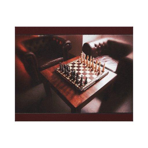 Tabla del ajedrez impresiones en lienzo estiradas