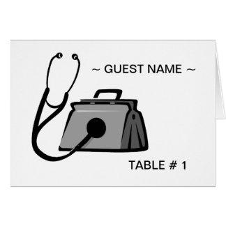 Tabla del bolso # tarjeta médicas del lugar