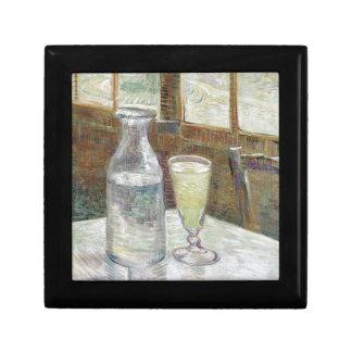 Tabla del café con el ajenjo de Vincent van Gogh Cajas De Joyas