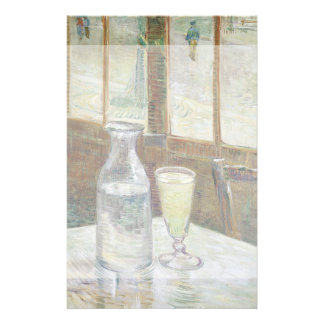 """Tabla del café con el ajenjo de Vincent van Gogh Folleto 5.5"""" X 8.5"""""""