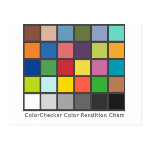 Tabla del inspector del color tarjeta postal