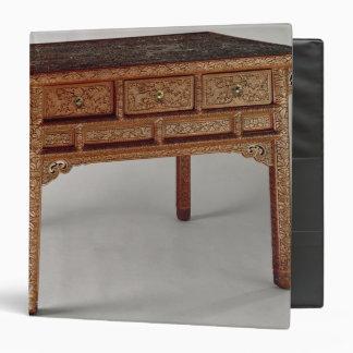 """Tabla del palacio, dinastía de Ming, período de Carpeta 1 1/2"""""""