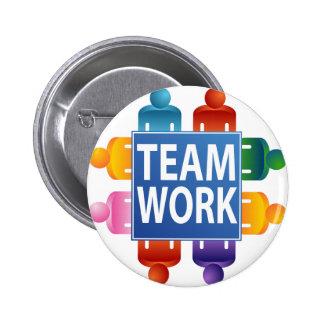 Tabla del trabajo en equipo pin redondo de 2 pulgadas