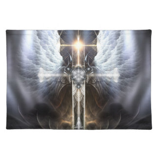 Tabla divina Placemat del fractal de la cruz de Mantel