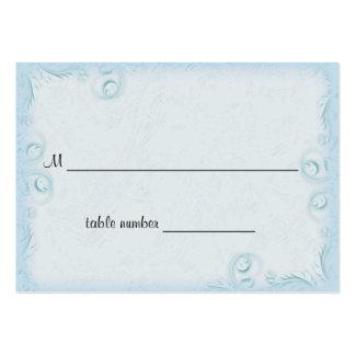 Tabla elegante Placecard del boda de Scrollwork de Tarjetas Personales