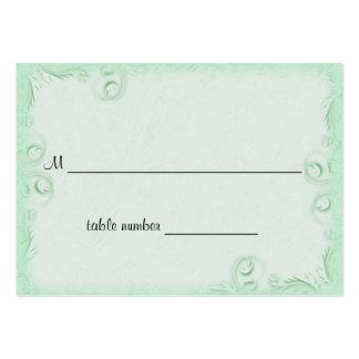 Tabla elegante Placecard del boda de Scrollwork de Plantillas De Tarjetas Personales