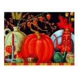 Tabla festiva del otoño postal