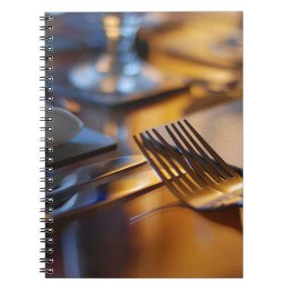 Tabla fijada para cenar spiral notebooks