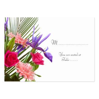 Tabla floral Placecard del boda Tarjeta De Negocio