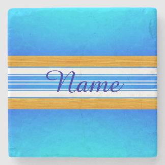Tabla hawaiana azul del océano posavasos de piedra