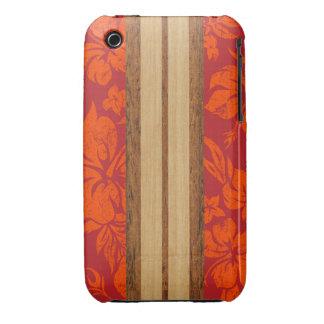 Tabla hawaiana Barely There de la playa de la pues iPhone 3 Cobreturas