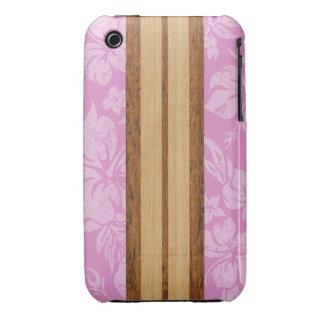 Tabla hawaiana Barely There de la playa de la pues iPhone 3 Carcasas