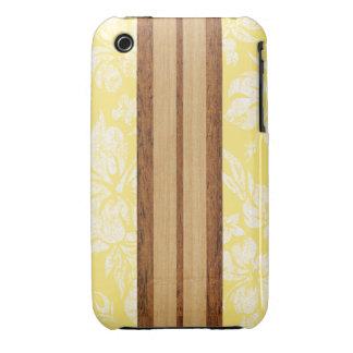 Tabla hawaiana Barely There de la playa de la pues iPhone 3 Case-Mate Protector