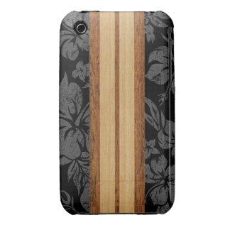 Tabla hawaiana Barely There de la playa de la pues iPhone 3 Case-Mate Cárcasa