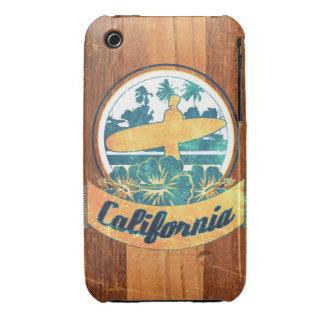 Tabla hawaiana de California iPhone 3 Carcasa