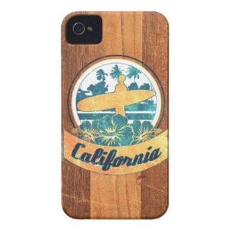 Tabla hawaiana de California iPhone 4 Case-Mate Coberturas