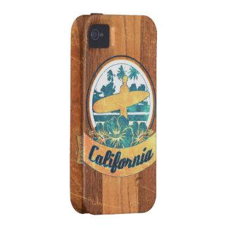 Tabla hawaiana de California iPhone 4/4S Fundas