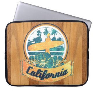 Tabla hawaiana de California Fundas Computadoras
