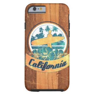 Tabla hawaiana de California Funda Para iPhone 6 Tough