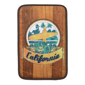 Tabla hawaiana de California Fundas MacBook