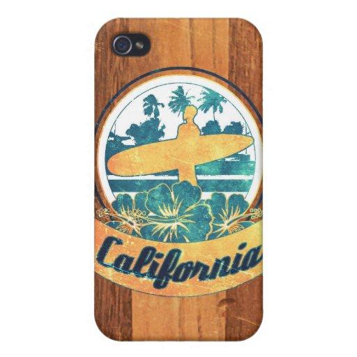 Tabla hawaiana de California iPhone 4/4S Funda