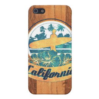 Tabla hawaiana de California iPhone 5 Carcasas