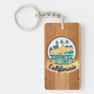 Tabla hawaiana de California Llaveros