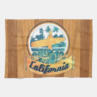 Tabla hawaiana de California Toalla De Mano
