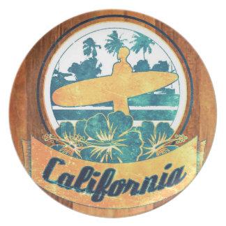 Tabla hawaiana de California Plato Para Fiesta