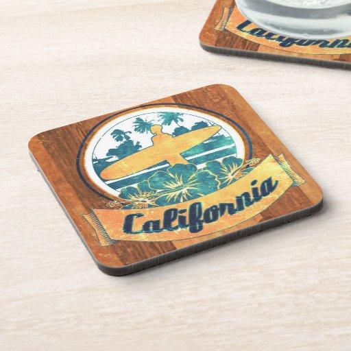 Tabla hawaiana de California Posavasos De Bebidas