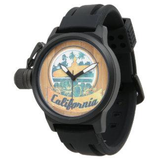 Tabla hawaiana de California Reloj
