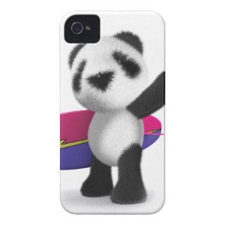 tabla hawaiana de la panda del bebé 3d Case-Mate iPhone 4 protector